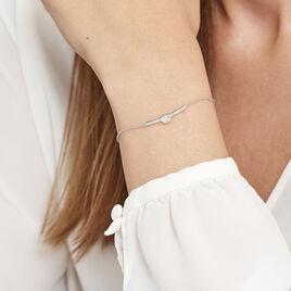 Bracelet Argent Rhodie Vanilla Barrette Oxyde - Bracelets fantaisie Femme | Histoire d'Or