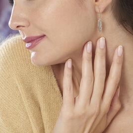 Boucles D'oreilles Pendantes Indian Nature Feuilles Or Jaune - Boucles d'Oreilles Plume Femme | Histoire d'Or
