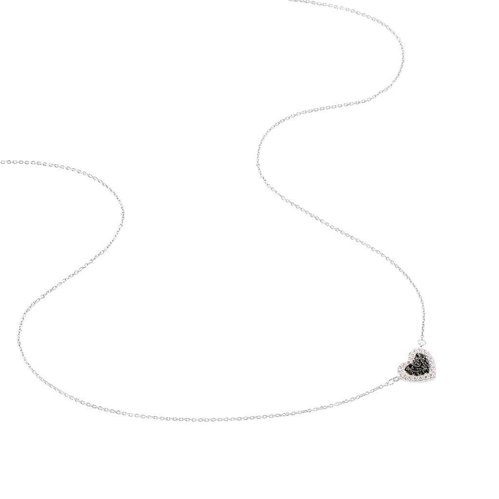Collier Iluna Or Blanc Oxyde De Zirconium - Colliers Coeur Femme | Histoire d'Or