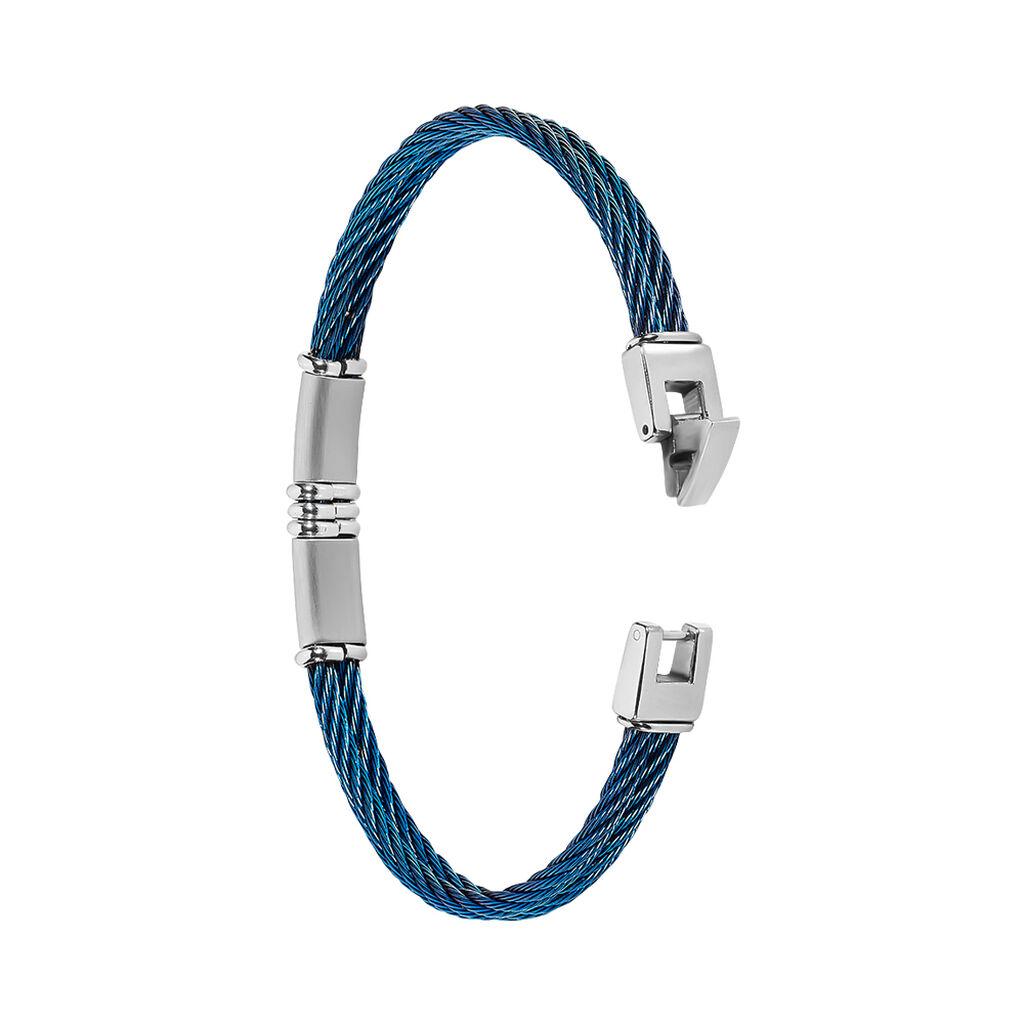 Bracelet Victor Acier Blanc - Bracelets fantaisie Homme | Histoire d'Or