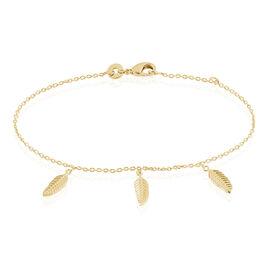 Bracelet Plaqué Or Jaune Libby - Bracelets Plume Femme | Histoire d'Or