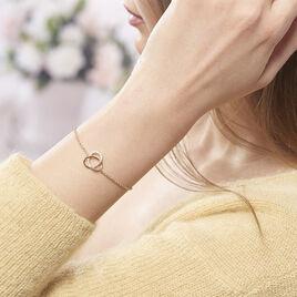 Bracelet Henia Plaque Or Jaune Oxyde De Zirconium - Bracelets fantaisie Femme | Histoire d'Or