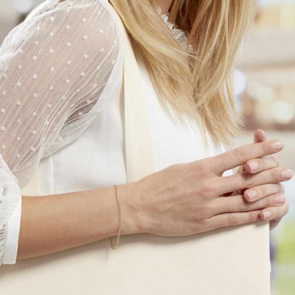 Bracelet Capucin Maille Marine Plate Or Jaune - Bracelets chaîne Femme | Histoire d'Or