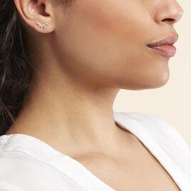 Boucles D'oreilles Barrettes Youssa Barrettes 5 Or Jaune Oxydes - Boucles d'Oreilles Plume Femme | Histoire d'Or