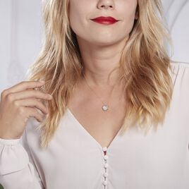 Collier Or Jaune Vallatina Nacre - Colliers Coeur Femme   Histoire d'Or