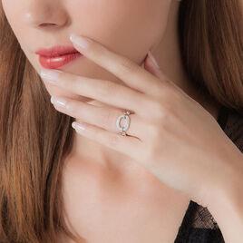 Bague Keline Argent Blanc Oxyde De Zirconium - Bagues avec pierre Femme | Histoire d'Or