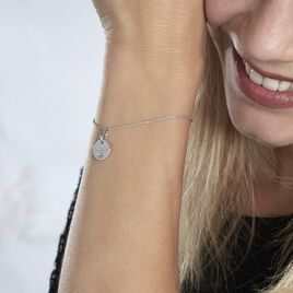 Bracelet Xanthie Argent Rhodie Oxyde - Bracelets Coeur Femme   Histoire d'Or