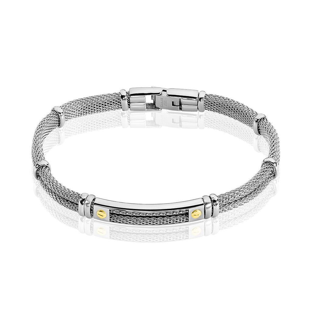 Bracelet Neylahae Or Acier Blanc - Bijoux Homme | Histoire d'Or