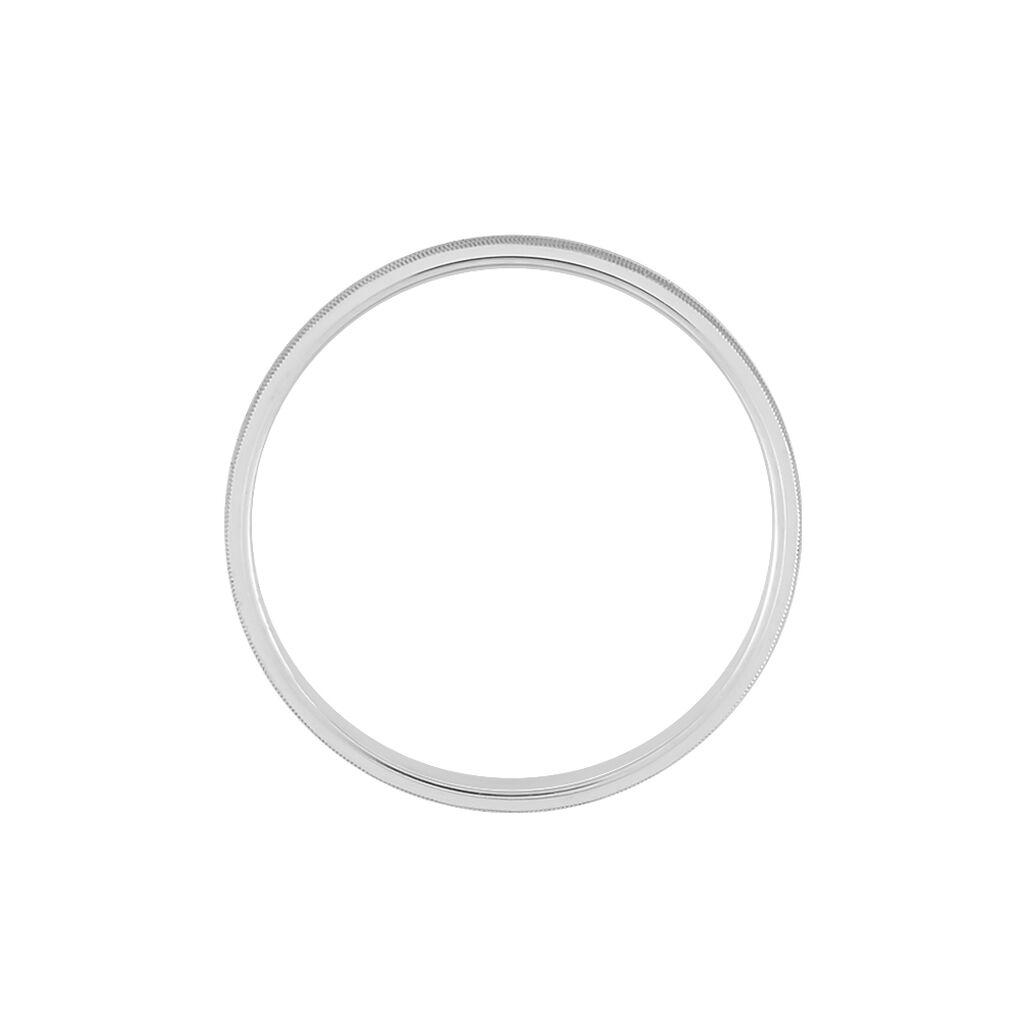 Alliance Corrinne Ruban Plat Argent Blanc - Alliances Famille | Histoire d'Or