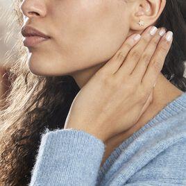 Boucles D'oreilles Puces Or Jaune Fragaria Oxydes - Boucles d'Oreilles Etoile Femme | Histoire d'Or