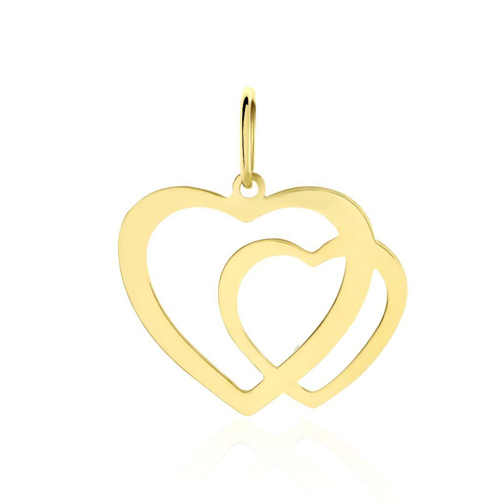 Pendentif Eudocie Coeurs Lisses Or Jaune - Pendentifs Coeur Femme   Histoire d'Or