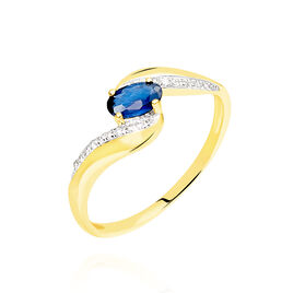 Bague Celestine Or Jaune Saphir Et Diamant - Bagues avec pierre Femme | Histoire d'Or