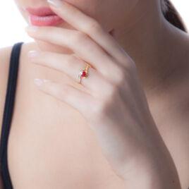 Bague Sagesse Or Jaune Rubis Et Diamant - Bagues solitaires Femme | Histoire d'Or