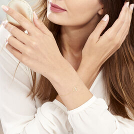 Bracelet Blasi Or Jaune Oxyde De Zirconium - Bracelets Coeur Femme   Histoire d'Or