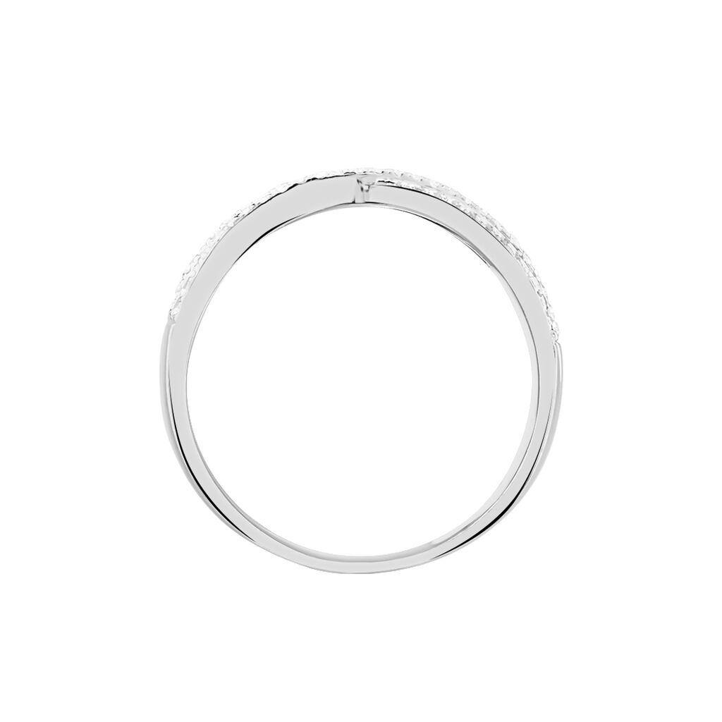 Bague Elyne Or Blanc Diamant - Bagues avec pierre Femme   Histoire d'Or