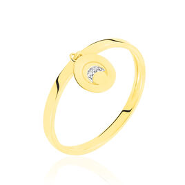 Bague Or Jaune Yamna Lune Oxydes - Bagues Lune Femme | Histoire d'Or