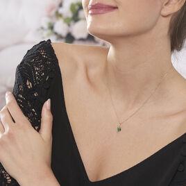 Collier Sagesse Or Jaune Emeraude Et Diamant - Bijoux Femme | Histoire d'Or