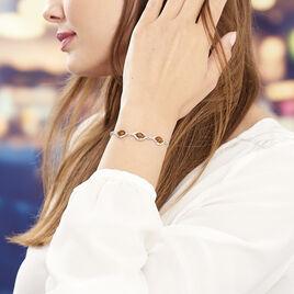 Bracelet Mounyaae Argent Blanc Ambre - Bracelets fantaisie Femme | Histoire d'Or