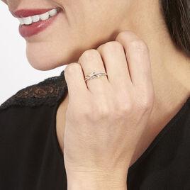 Bague Helene Or Bicolore Diamant - Bagues avec pierre Femme | Histoire d'Or