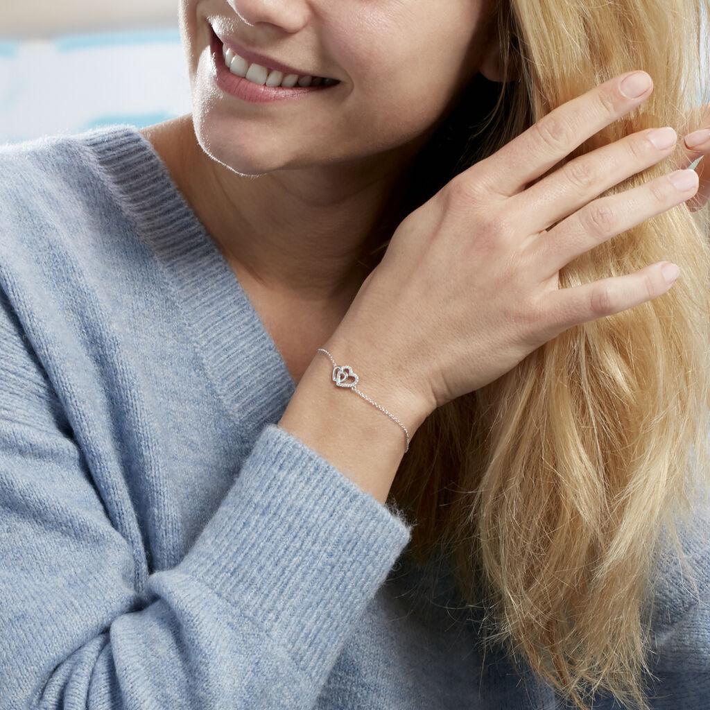 Bracelet Marina Argent Blanc Oxyde De Zirconium - Bracelets Coeur Femme | Histoire d'Or