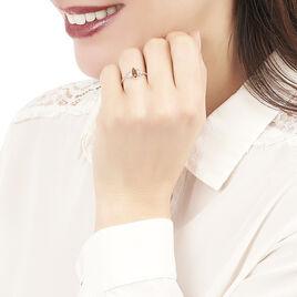 Bague Sloanne Argent Blanc Ambre - Bagues solitaires Femme | Histoire d'Or