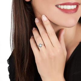 Bague Leony Or Blanc Topaze Et Diamant - Bagues avec pierre Femme | Histoire d'Or