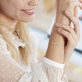Bracelet Onaissa Argent Blanc Oxyde De Zirconium - Bracelets fantaisie Femme   Histoire d'Or