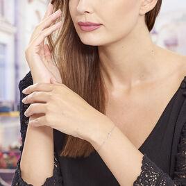 Bracelet Gaiana Argent Blanc - Bracelets Croix Femme | Histoire d'Or