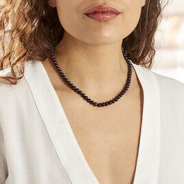 Collier Noire Or Jaune Perle De Culture - Bijoux Femme   Histoire d'Or