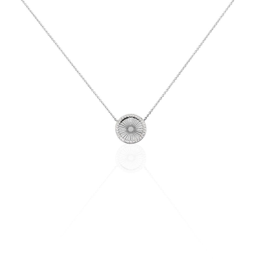 Collier Feliz Argent Blanc Oxyde De Zirconium - Colliers fantaisie Femme | Histoire d'Or