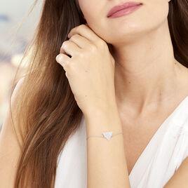 Bracelet Paulina Argent Blanc - Bracelets fantaisie Femme   Histoire d'Or