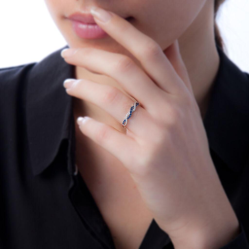Bague Sofia Or Rose Rubis Et Diamant - Bagues avec pierre Femme   Histoire d'Or