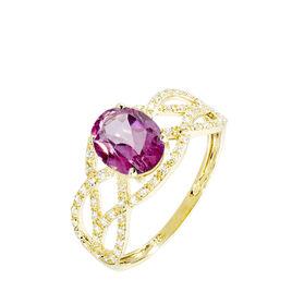Bague Tina Or Jaune Topaze Et Diamant - Bagues avec pierre Femme   Histoire d'Or