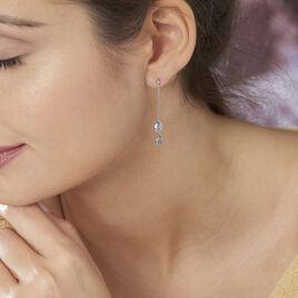 Boucles D'oreilles Pendantes Carlyn Or Blanc Topaze - Boucles d'oreilles pendantes Femme | Histoire d'Or