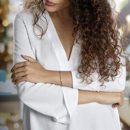 Bracelet Eshan Argent Blanc Oxyde De Zirconium - Bracelets fantaisie Femme | Histoire d'Or