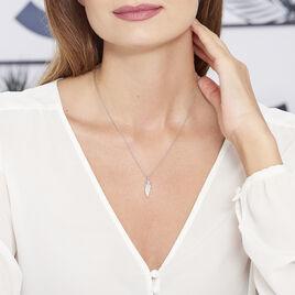 Collier Angeline Argent Blanc Oxyde De Zirconium - Colliers Plume Femme | Histoire d'Or
