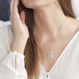 Collier Fellicia Argent Blanc Oxyde De Zirconium - Bijoux Femme | Histoire d'Or