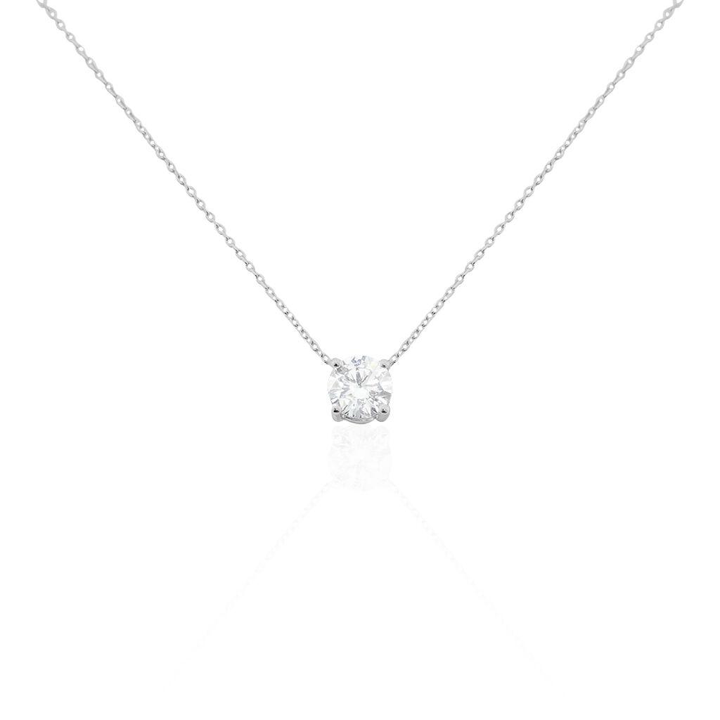 Collier Collection Victoria Or Blanc Diamant Synthetique - Bijoux Femme | Histoire d'Or