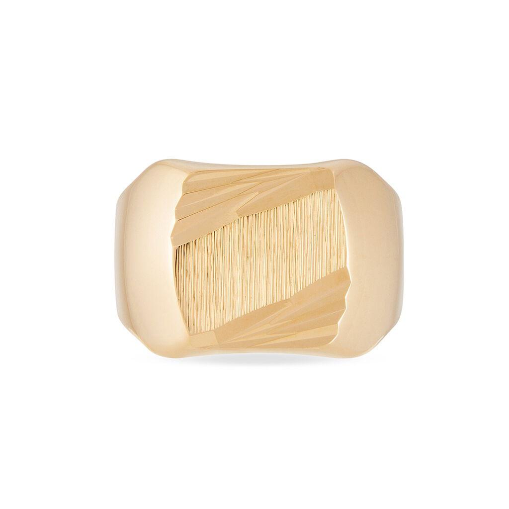 Chevalière Zoey Plaque Or Jaune - Chevalières Homme | Histoire d'Or