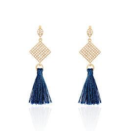 Boucles D'oreilles Pendantes Gold'n Plaque Or Jaune Oxyde De Zirconium - Boucles d'oreilles pendantes Femme   Histoire d'Or