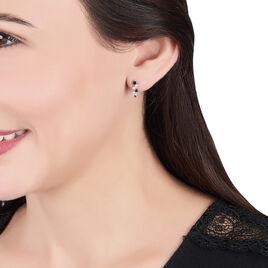 Boucles D'oreilles Pendantes Gaya Argent Blanc Oxyde De Zirconium - Boucles d'oreilles fantaisie Femme   Histoire d'Or