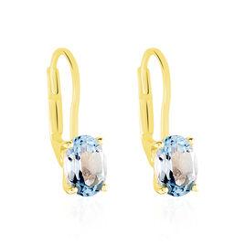 Boucles D'oreilles Pendantes Hedel Or Jaune Topaze - Boucles d'oreilles pendantes Femme | Histoire d'Or