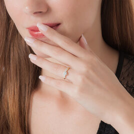 Bague Filipa Or Bicolore Oxyde De Zirconium - Bagues solitaires Femme | Histoire d'Or