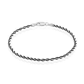Bracelet Argent Bicolore Maille Torsade - Bracelets chaîne Femme | Histoire d'Or