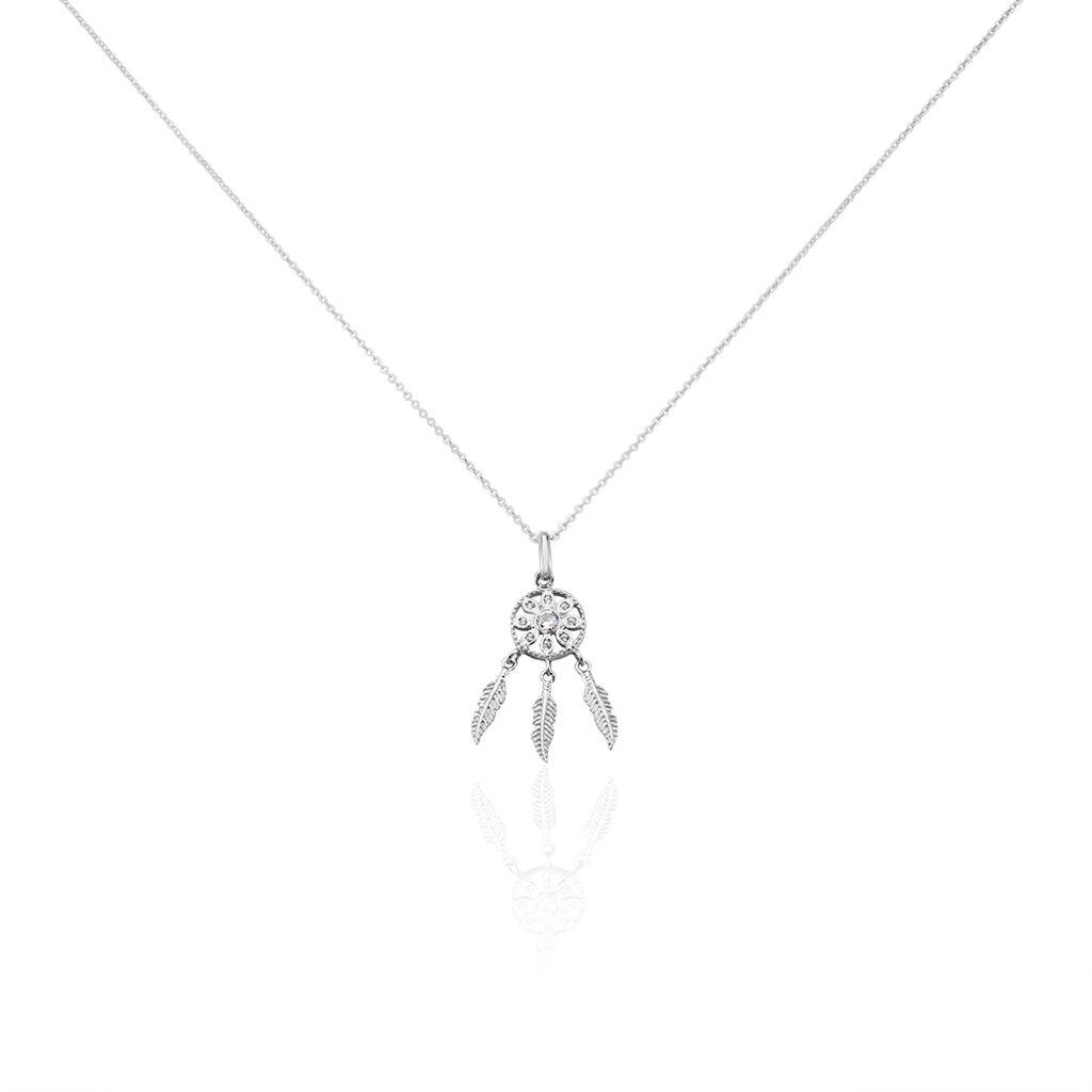 Collier Ioannina Argent Blanc Oxyde De Zirconium - Colliers Attrape rêves Femme | Histoire d'Or