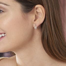 Boucles D'oreilles Pendantes Evana Or Jaune Oxyde De Zirconium - Boucles d'oreilles pendantes Femme   Histoire d'Or