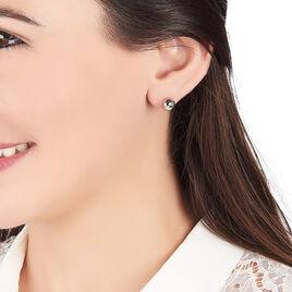 Boucles D'oreilles Puces Bilou Acier Blanc - Boucles d'oreilles fantaisie Femme | Histoire d'Or