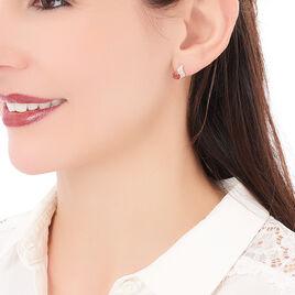 Boucles D'oreilles Puces Tyana Plaque Or Jaune Oxyde De Zirconium - Boucles d'oreilles fantaisie Femme   Histoire d'Or