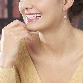 Boucles D'oreilles Pendantes Emerika Or Blanc Oxyde De Zirconium - Boucles d'oreilles pendantes Femme   Histoire d'Or