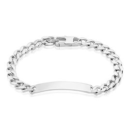 Bracelet Identité Argent Rhodié Casper - Gourmettes Homme | Histoire d'Or